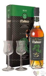 "Malteco reserva "" Maya "" aged 15 years 2glass pack rum of Guatemala 41.5% vol.0.70 l"
