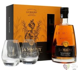 "La Mauny agricole vieux "" VO very old "" 2glass pack aged rum of Martinique 40% vol.  0.70 l"