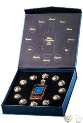 """Blue Mauritius """" Gold Pralines set """" aged rum of Mauritius 40% vol.  0.05 l"""