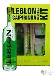 Leblon gift set sugar cane Brasilian Cachaca 40% vol.  0.70 l