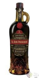 """el ron Prohibido Habanero """" Gran reserva """" aged 15 years Mexican rum 40% vol.  0.70 l"""