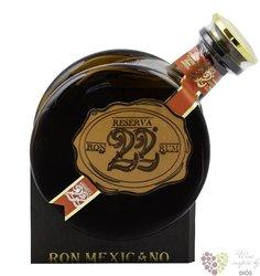 "el ron Prohibido Habanero "" Reserva "" aged 22 years Mexican rum  40%  0.7l"