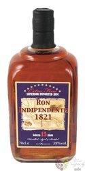 "Indipendente 1821 "" Solera 15 aňos "" aged Panamas rum 38% vol.  0.70 l"