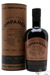 """Companero 1423 """" Gran reserva """" aged Jamaica & Trinidad rum 40% vol.  0.70 l"""