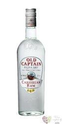 "Old Captain "" White "" pure Caribbean rum 37.5% vol.    0.70 l"