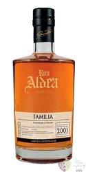 """Aldea 2001 """" Familia """" aged 15 years ltd. edition of la Palma rum 40% vol.   0.70 l"""