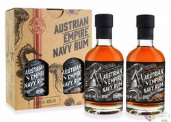 "Austrian Empire Navy "" Reserva 1863 & Solera 18 "" aged rum of Barbados 40% vol.2x0.20 l"