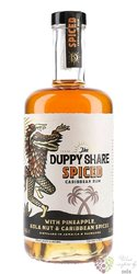 """Duppy Share """" Spiced """" flavored Caribbean rum 37.5% vol.  0.70 l"""