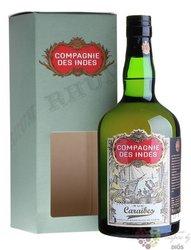 "Compagnie des Indes "" Caraibes "" aged caribbean rum 40% vol.  0.70 l"