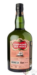 Compagnie des Indes 10 years aged rum of Indonesia  43%  0.70 l