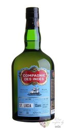 Compagnie des Indes 13 years aged rum of St.Lucia 43%  0.70 l