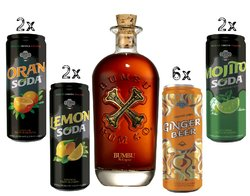 "Bumbu "" Happy Hour set the Original Craft "" artesanal spirits of Barbados 40% vol.  0.70 l"