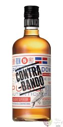 Contra-bando 5 years aged rum of Dominican republic by Oliver & Oliver 38% vol.0.70 l