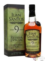 "Juan Santos "" Reserva especial "" aged 9 years Colombian rum 40% vol.  0.70 l"