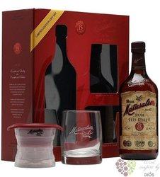 """Matusalem """" Gran reserva """" aged 15 years gift set Cuban rum 40% vol.  0.70 l"""