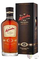 "Matusalem "" Grand reserva "" aged 23 years solera blend Cuban rum 40% vol.  0.70l"