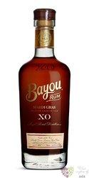 """Bayou """" XO Mardi gras """" aged American rum 40% vol.  0.70 l"""