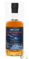 "Cane Island "" Alcoholes finos "" aged 5 years Dominican republic rum 43% vol.  0.70 l"
