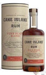 "Cane Island single estate "" Five Icon "" aged 8 years Dominican rum 44% vol.  0.70 l"