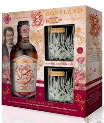 """Bonpland """" Rouge Connosseurs box """" blended caribbean rum 40% vol.  0.50 l"""