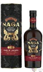"""Naga """" Pearl of Jakarta """" triple cask aged Indonesian rum 42.7% vol.  0.70 l"""