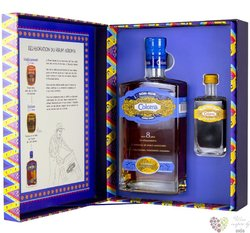 Coloma aged 8 years mini set Colombian rum 40% vol.  0.70 l