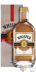 "Whisper Antigua "" Honey Punch "" flavoured caribbean rum 20% vol.  0.70 l"