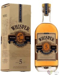 Whisper Antigua 5 years aged caribbean rum 40% vol.  0.70 l