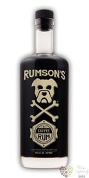 "Rumson´s "" Coffee "" flavored lightly aged caribbean rum 40% vol.  0.75 l"