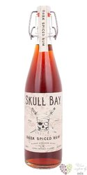 "Skull Bay "" Dark Spiced "" flavored caribbean rum 37.5% vol.  0.50 l"