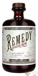 "Remedy "" Spiced "" flavored Caribbean rum 41.5% vol.  0.70 l"