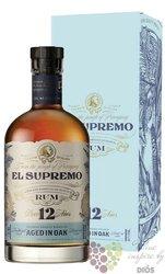 el Supremo aged 12 years gift box Paraguay rum 40% vol.  0.70 l