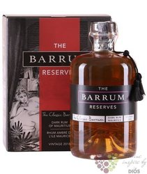 "Barrum "" Classic 2018 "" aged rum from Mauricius 40% vol.  0.70 l"