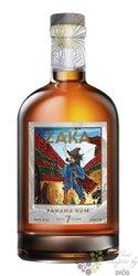 Zaka 7 years aged caribbean rum of Panama 42% vol.  0.70 l