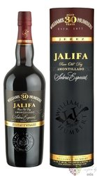 "Sherry de Jerez amontillado "" Jalifa "" Do solera aged 30 years Williams & Humbert 19.5% vol. 0.5"