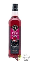 """1883 de Philibert Routin """" Grenadine """" French mixed berry coctail syrup 00% vol.   1.00 l"""