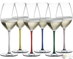 """Riedel Fatto a Mano Colors """" Champagne """" sada 6-ti kusů sklenic"""