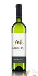 Ryzlink vlašský 2014 kabinetní víno Slovakia Karpatská Perla  0.75 l