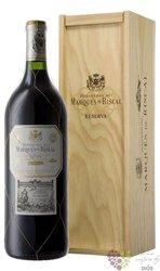 """Marques de Riscal """" Reserva """" 2014 Rioja DOCa magnum wood box   1.50 l"""