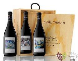 """Collection of """" Arte Reserva """" wood box Rioja DOCa Bodegas Altanza    0.75 l"""