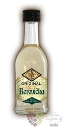 "Borovička "" Spiš Original "" Slovak fruits brandy by Gas distillery 40% vol.   0.05 l"