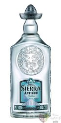 "Sierra Antiguo "" Plata "" 100% of Blue agave Mexican tequila 40% vol.     0.70 l"