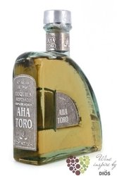 "Aha Toro "" Reposado "" 100% of Blue agave Mexican tequila 40% vol.    0.70 l"