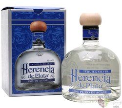 "Herencia de Plata "" Blanco "" Blue agave Mexican tequila 38% vol.  0.70 l"