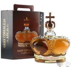 """Corralejo """" Gran Corralejo aňejo """" 100% of Blue agave Mexican tequila 38% vol.1.00 l"""