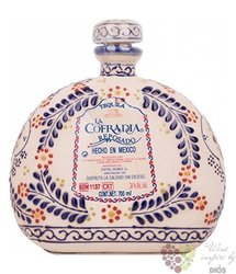 "la Cofradia reposado "" edition Talavera "" 100% of Blue agave Mexican tequila 38% vol.  0.70 l"