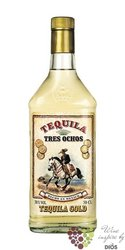 "888 Tres Ochos "" Gold "" original Mexican tequila 38% vol.  0.70 l"