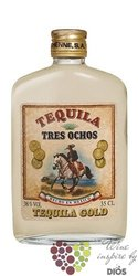 "888 Tres Ochos "" Gold "" original Mexican tequila 38% vol.  0.35 l"