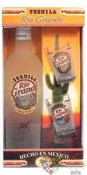 "Rio Grande "" Silver "" 2glass pack original Mexican mixto tequila 38% vol.    0.70 l"