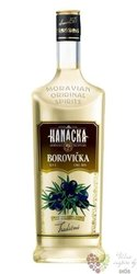 """Hanácká """" Borovička """" Moravian original spirit Starorežná Prostějov 37.5% vol.1.00 l"""